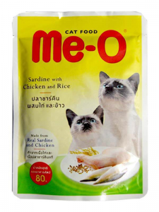 PCG - Me-O Pouch Adult Cat Food Sardine With Chicken & Rice - 80G