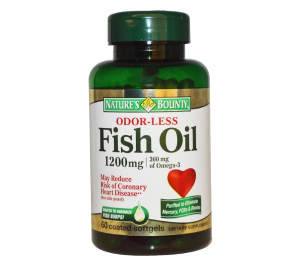 Nature's Bounty - Fish Oil 1200 mg Odorless - 60 Coated Soft gels