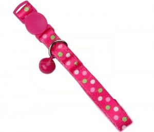 Pawise Cat Collar-Polka Dots, Pink