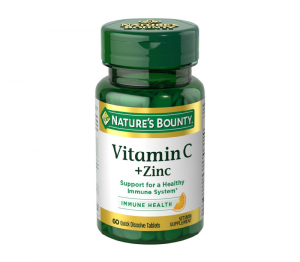 Nature's Bounty -  Vitamin C Plus Zinc - 60 Quick Dissolve Tablets