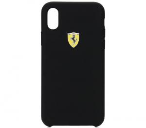 Ferrari SF - Silicon Case For iPhone XS MAX With Logo Shield