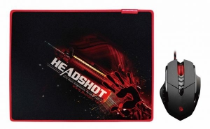 Bloody V7M Mouse (Activated) + B071 X'Glide Mouse Pad Bundle