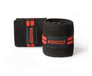 Grizzly Fitness Red Line Wrist Wraps Black - 8663-04