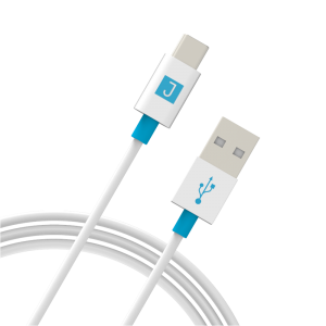Juku USB-A to USB-C Charge and Sync Cable- White