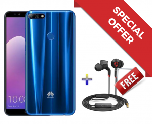 Huawei Y7 Prime 2018 - 3GB RAM / 32GB - Blue + Tonino Lamborghini Quantum HL-01 In-ear Headphone