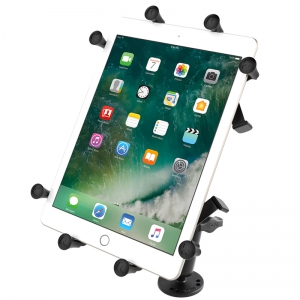 RAM Flat Surface Mount with Double Socket Arm & Universal X-Grip Cradle