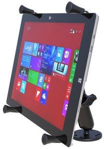 """RAM Flat Surface Mount with Long Double Socket Arm & Universal X-Grip  for 12\"""" Tablets"""