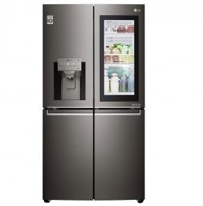 LG Refrigerator Insta View, 4 Doors, 39 Cft, Shiny steel, GR-X39FTKHL