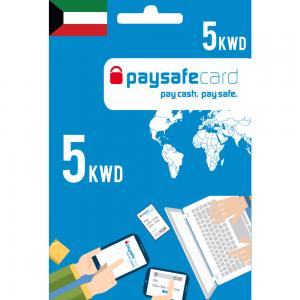 Paysafecard Digital Card KWD - 5 KWD