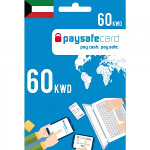 Paysafecard Digital Card KWD - 60 KWD
