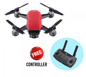 DJI - Spark Lava Red With Free Controller