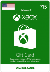 Xbox $15 Virtual Gift Card