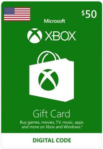 Xbox $50 Virtual Gift Card