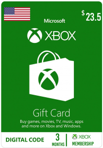 Xbox $23.5 Virtual Gift Card ( 3 Months Subscriptions )