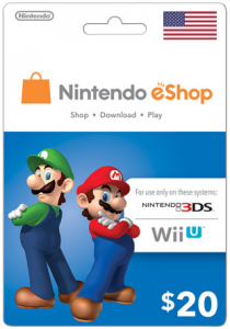 Nintendo eShop $20 Virtual Gift Card