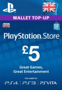 PlayStation Network UK Gift Card 5 UK Pound