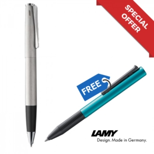 LAMY Studio Brushed Rollerball Pen M M63bk + Special Edition Tipo Turmaline Rollerball Pen