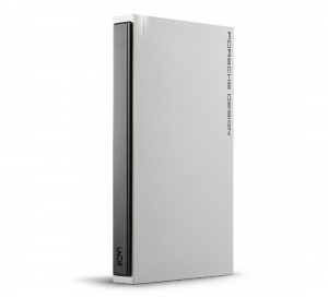 LaCie 1TB Porsche Design USB 3.0 Portable 2.5 inch External Hard Drive for PC and Mac - Light Grey