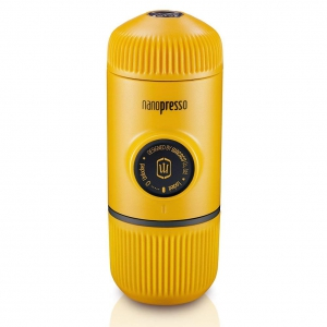 WACACO-Portable Espresso Coffee Machine-Nanopresso Yellow+Carrying Bag+ NS Adaptor