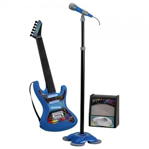The Electronic Guitar with Microphone