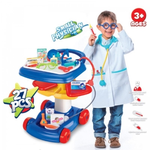 Small Physician Trolley Doctor Play Set for Children Kids
