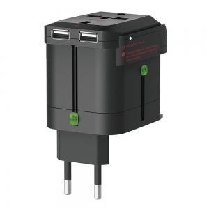 Elago Tripshell World Travel Adapter with Dual USB Charger