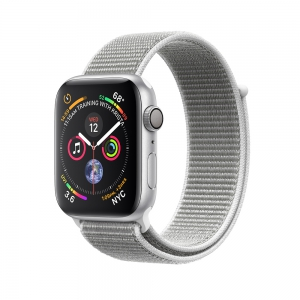 Apple - Watch Series 4 GPS 40mm Silver Aluminum Case with Seashell Sport Loop