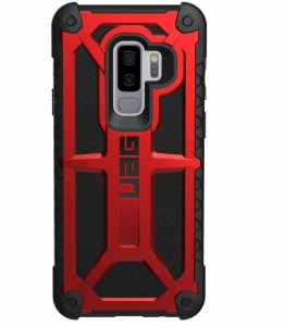 UAG Galaxy S9+ Monarch Case- Crimson/black