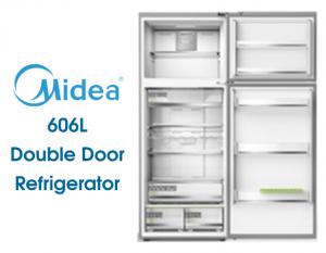 Midea Double Door Refrigerator 606 Liters - White