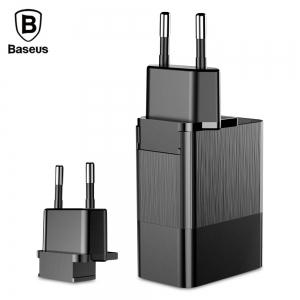 Baseus Duke Universal Travel Charger (EU+UK+US) - Black