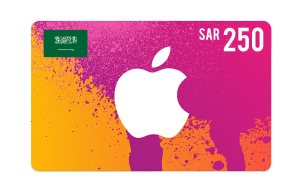 Apple iTunes Saudi Gift Cards 250 SAR