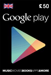 Google Play gift card UK 50 pound