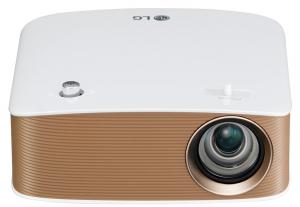 LG Projector MiniBeam 150 Lumens, White - PH150G