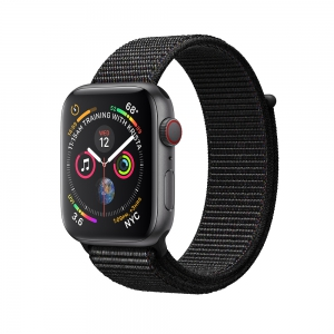Apple Watch Series 4 GPS + Cellular 44mm Space Grey Aluminium Case - Black Sport Loop
