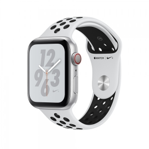 Apple Watch Nike+ Series 4 GPS + Cellular 44mm Silver Aluminium Case - Pure Platinum/Black