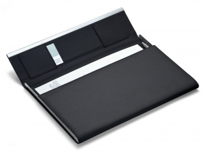 Philippi Giorgio Document Folder Leather/Stainless Steel