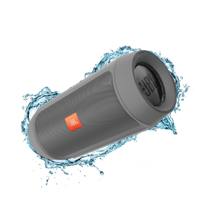 JBL Splashproof Portable Bluetooth Speaker With USB Charger CHARGE2+ Grey - Open Box