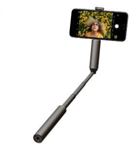 CliqueFie Glitter Selfie Stick - Gray