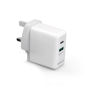 iWalk Power Adapter Power Delivery & Quick Charge 3.0 - White