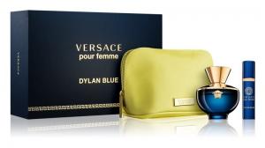 Versace Dylan Blue Pour Femme Set Eau De Parfum 100 ml + Eau De Parfum 10 ml + Bag