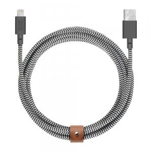 Native Union Belt Cable Kevlar Lightning Cable - 3m - Zebra