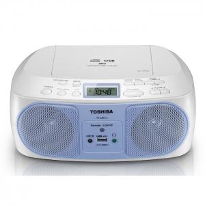 Toshiba Portable CD/Radio Player with Remote 13W - TY-CRU12 (Blue)