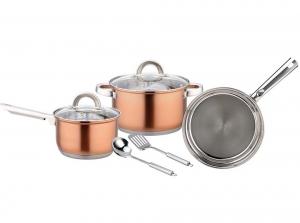 Magnum Steel 7 PCs. Cookware Set - Copper