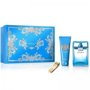 Versace Eau Fraiche Gift Set for Men EDT 100ml+Shower Gel+Versace Money Clip