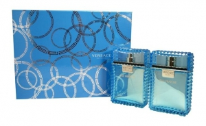 Versace Eau Fraiche Gift Set for Men - EDT 100ml+ Aftershave 100ml