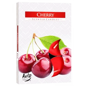 Aura scented candles Pack 6 - 66g Cherry - (BUY 2 GET 1 FREE)