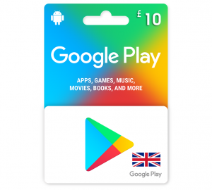 Google Play Gift Card £10 UK Pound