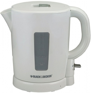 Black & Decker Concealed Coil Electric Kettle, White/Grey - JC250-B5