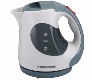 Black & Decker Concealed Coil Electric Kettle, Grey/White - JC120-B5