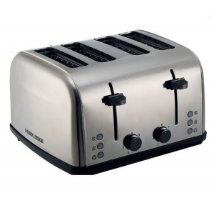 Black & Decker 4-Slice Toaster with Dual Control - 1800W SS